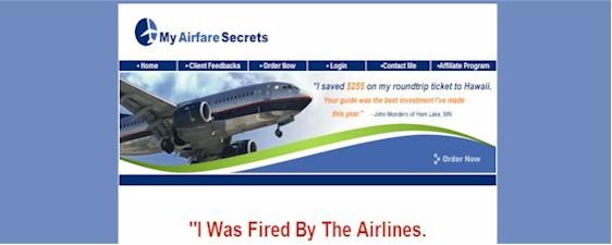 myairfaresecrets website
