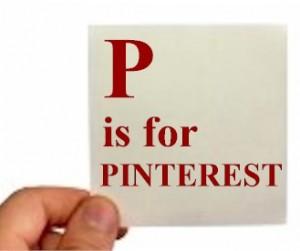 man holding a pinterest sign