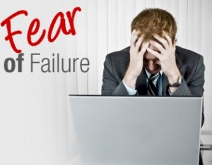 someone who is experiencing the fear of failure