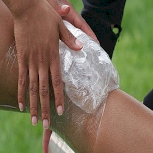applying ice for a sports injury